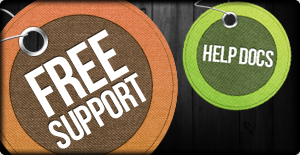 your site includes free support and our searchable help documents